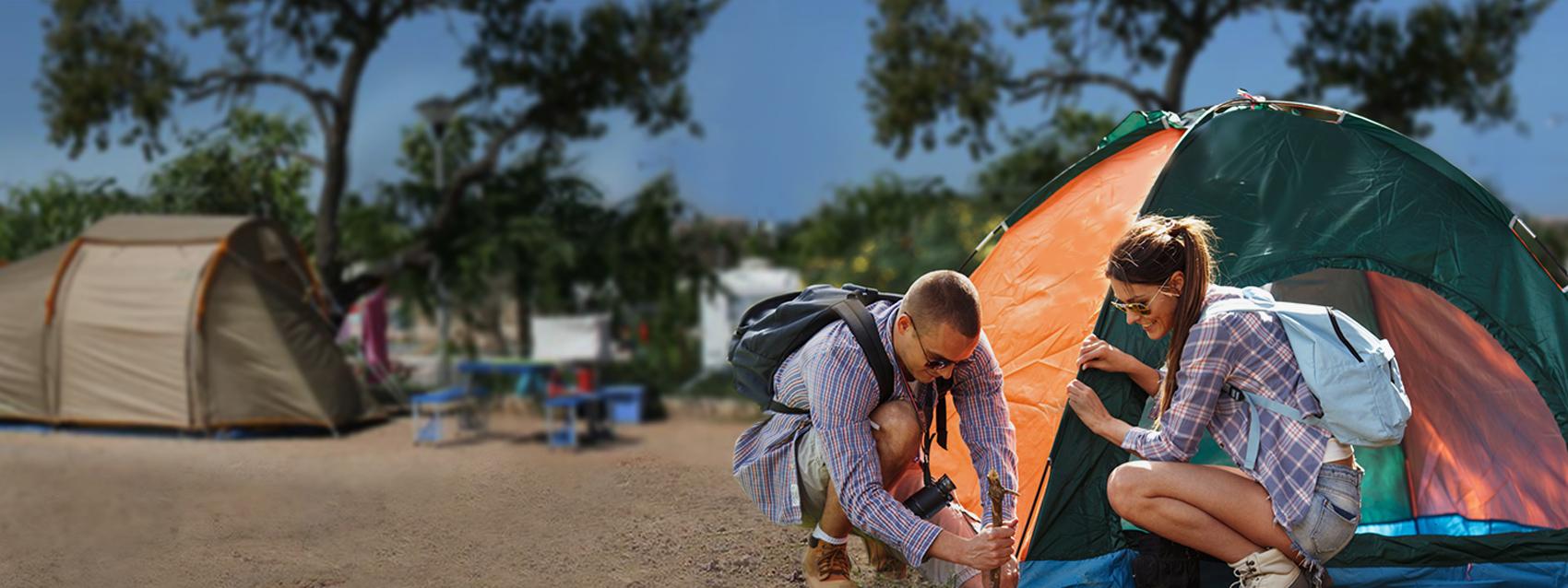 Lotes individuais para tendas perfeitamente equipadas para tendas - Camping Ria Formosa no Algarve